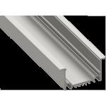 Светодиодный профиль врезной, алюминиевый, анодированный LE-6232