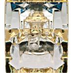 Светильник потолочный, MR16 50W G5.3 с прозрачным стеклом, золото, с лампой, CD2151