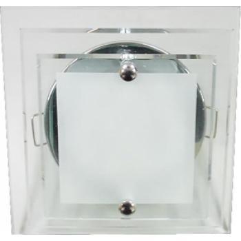 Светильник потолочный, MR16 G5.3 с прозрачным стеклом, хром, c лампой, DL4153