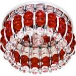 Светильник потолочный, JCD9 G9 с прозрачным и красным стеклом, хром, с лампой, CD2119