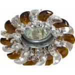 Светильник потолочный, MR16 G5.3 с прозрачным-коричневым стеклом, хром, с лампой, CD2316