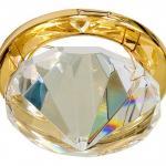 Светильник потолочный, MR16 G5.3 с прозрачным стеклом, золото (c лампой), CD22