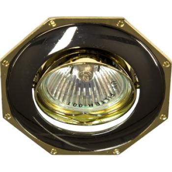Светильник потолочный, MR16 G5.3 черный-золото, 305T-MR16