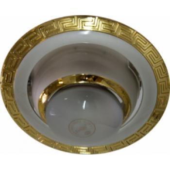 Светильник потолочный, R50 E14 жемчужное серебро-золото,1723
