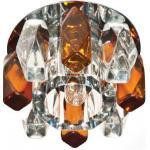 Светильник декоративный JD186 JCD9 35W G9 прозрачный коричневый, хром