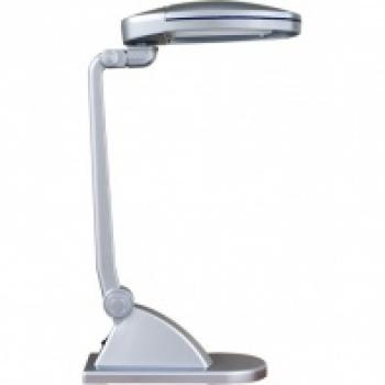 Светильник настольный, ESТ 2*9W 230V G23 серебро, c лампами, DE1130