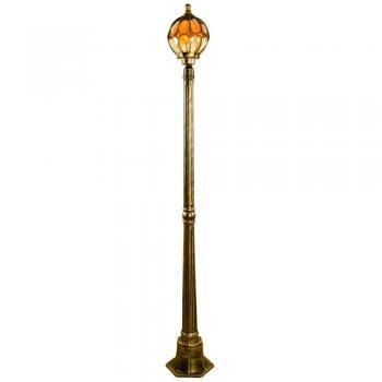 Светильник садово-парковый, 60W 230V E27 1.45M черное золото, IP44, PL3707