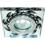 Светильник потолочный, MR16 50W G5.3, серебро-черный рисунок, 8115-2