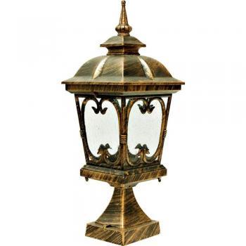 Светильник садово-парковый, 100W 230V E27 черное золото, PL136