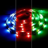 Лента светодиодная, 30SMD(5050)/m 7.2W/m 12V 5m красный на белом, LS607
