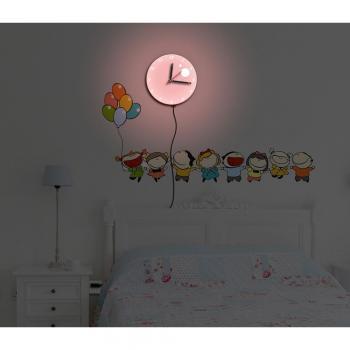 Светильник-часы 8*0,5W LEDs 5730smd с USB-проводом NL75