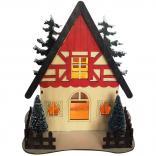 Деревянная световая фигура, 5LED, цвет свечения: теплый белый, 24*16,5*26 сm, батарейки 2*AA , IP20, LT090