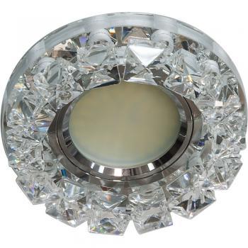 Светильник встраиваемый со светодиодной RGB подсветкой 2.5W MR16 50W 12V G5.3, прозрачный, прозрачный, CD2929