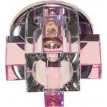 Светильник потолочный, JCD G9 с розовым стеклом, хром, с лампой, C1037P
