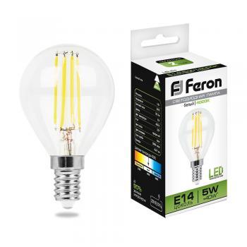 Лампа светодиодная, (5W) 230V E14 4000K, LB-61