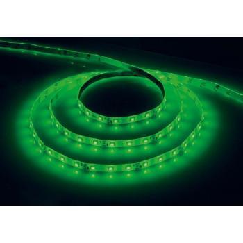 Лента светодиодная, 60SMD(3528)/m 4.8W/m 12V IP65 5m зеленый на белом основании, LS604