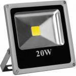 Прожектор квадратный, 1LED/20W-белый 230V 6400K серый (IP65) 200*185*45 mm, LL-272