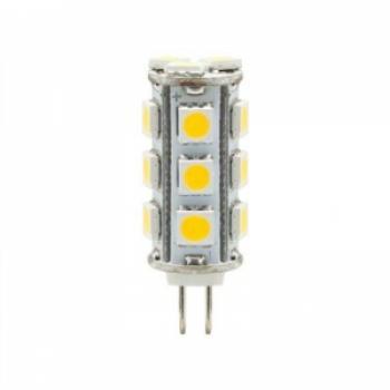 Лампа светодиодная, 18LED(3W) 12V G4 4000K, LB-403