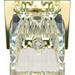 Светильник потолочный, JCD9 35W G9 с прозрачным стеклом, золото, JD60