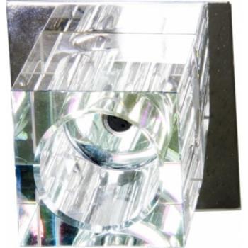 Светильник потолочный, JCD G9 с прозрачным стеклом, хром, с лампой, JD66