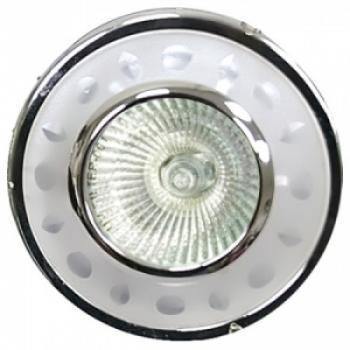 Светильник потолочный, MR16 G5.3 с матовым стеклом, золото, с лампой, DL8079