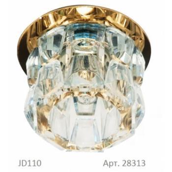 Светильник потолочный, JCD9 35W G9 прозрачный,хром, JD115