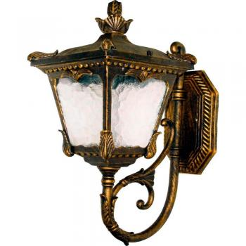Светильник садово-парковый, 60W 230V E27 черное золото, 6003QS