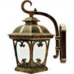 Светильник садово-парковый, 100W 230V E27 черное золото, PL139