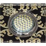 Светильник встраиваемый 15LED*2835 SMD MR16 12V 50W G5.3, черный, серебро, 8787-2