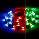 Лента светодиодная, 30SMD(5050)/m 7.2W/m 12V 5m синий на белом, LS607