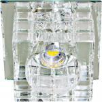Светильник встраиваемый со светодиодной RGB подсветкой 2.5W JCD9 35 W 230V/50Hz G9, прозрачный, прозрачный, JD106