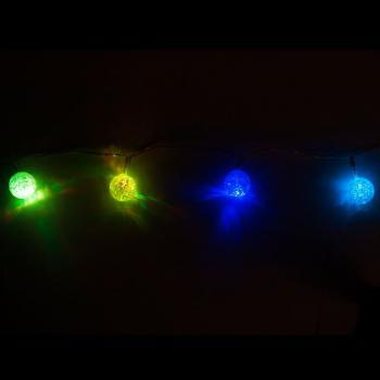 Гирлянда 10LED, цвет свечения:RGB, расстояние м/у подвесами: 10 см, длина: 0.9 м, батарейки 3*АА, IP20, CL554