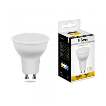 Лампа светодиодная, 80LED (7W) 230V GU10 2700K, LB-26
