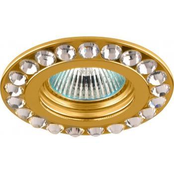 Светильник встраиваемый потолочный MR16 MAX50W 12V G5.3, прозрачный, золото, DL112-C
