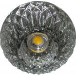 Светильник потолочный 10W 220V/50Hz 600Lm 3000K прозрачный, хром, JD187