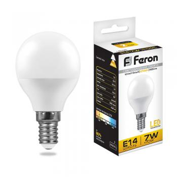 Лампа светодиодная, (7W) 230V E14 2700K, LB-95