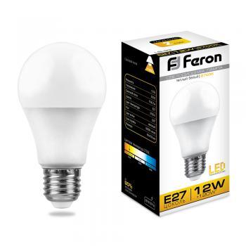 Лампа светодиодная, (12W) 230V E27 2700K, LB-93