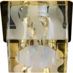 Светильник потолочный, JCD9 35W G9 с прозрачным-матовым стеклом, хром DL-173