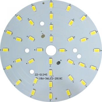 LB-1766, светодиодный модуль на алюм.плате, 18W 36LED SMD5730 990Lm 6400K D100mm