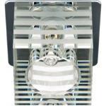 Светильник точечный DL-172 JCD9 35W G9 прозрачный-матовый,хром (с лампой)