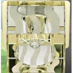Светильник потолочный, JCD9 35W G9 с прозрачным-матовым стеклом, золото DL-173
