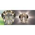 Светильник потолочный,JCD9 35W G9, прозрачный,золото, с лампой, JD40