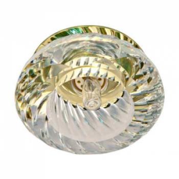 Светильник потолочный, JCD9 35W с прозрачным стеклом, золото, JD85