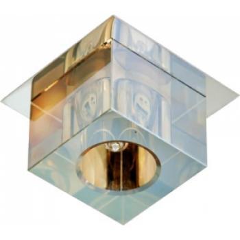 Светильник потолочный, JCD G9 с черным стеклом, золото, с лампой, CD2550