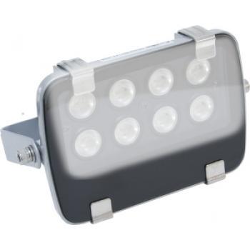 Прожектор квадратный, 8LED/1W-белый 24V серебрянный (IP54), LL-135