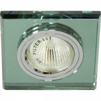 Светильник потолочный, MR16 G5.3 зеленый, серебро, 8170-2