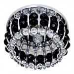 Светильник потолочный, JCD9 G9 с прозрачным и черным стеклом, хром, с лампой, CD2119