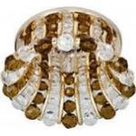 Светильник потолочный, JCD9 35W G9 с прозрачным-коричневым стеклом, золото, CD2120