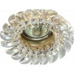 Светильник потолочный, MR16 G5.3 с прозрачным стеклом, золото, с лампой, CD2316