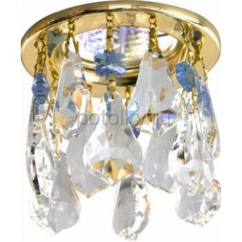 Светильник потолочный, MR16 G5.3 прозрачный + сиреневый, золото, CD4208